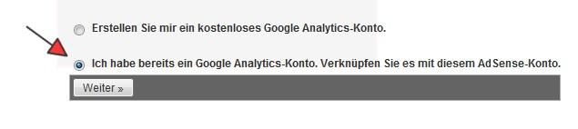 AdSense Analytics Verknüpfung einrichten