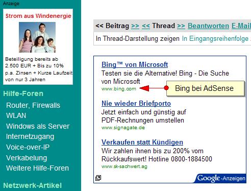 Bing bei AdSense 1