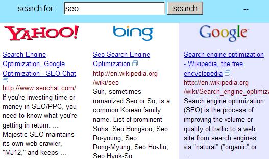 Blind Search Ergebnisse