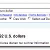 Euro-Dollar-Umrechnung