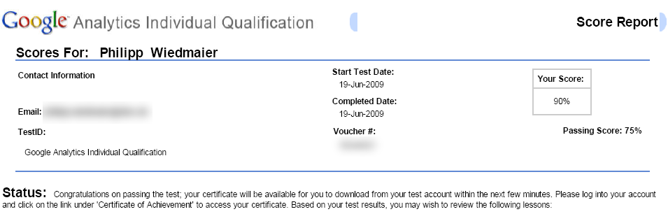 Google Analytics Individual Qualification Test