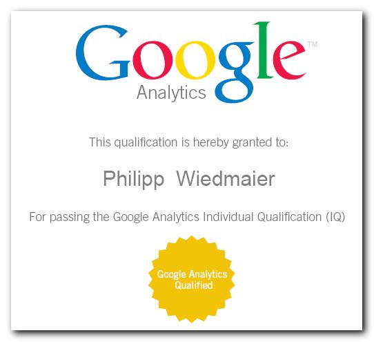 Google Analytics Zertifizierung Individual Qualification