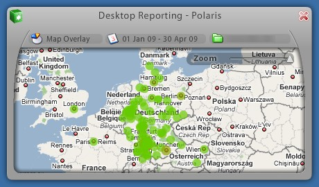 Google Analytics Desktop Gadget Polaris Map Overlay