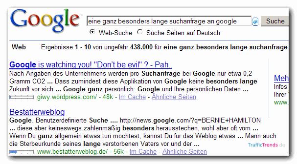 Google Snippets mit 4 Zeilen